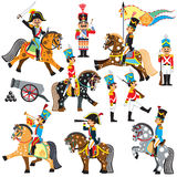 Set of cartoon soldiers Stock Image
