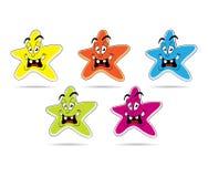 Set of cartoon star Royalty Free Stock Photo