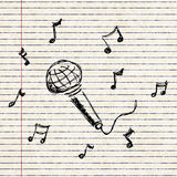 Set of cartoon style microphone Stock Image