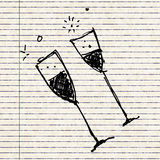 Set of cartoon style wine glass Royalty Free Stock Image