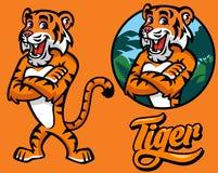 Set of cartoon tiger character Stock Photos