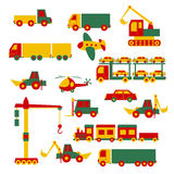 Set of cartoon toys Royalty Free Stock Image