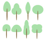 Set of Cartoon Trees Royalty Free Stock Photo