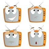 Set of cartoon tv emotional symbol Stock Photo