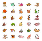 Set of cartoon vector animals Stock Photography
