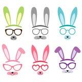 Set of cartoon vector bunny ears Royalty Free Stock Photos