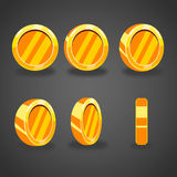 Set with cartoon vector coins Royalty Free Stock Image