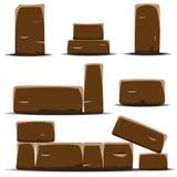 Set of cartoon vector stones. Stock Image