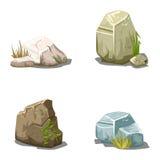 Set of cartoon vector stones Royalty Free Stock Photography