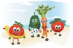 Set of  Cartoon Vegetables Stock Photo
