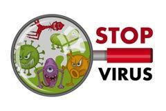 Set of Cartoon virus. Funny micro Virus. Cartoon bacteria character. Vector virus character vector illustration