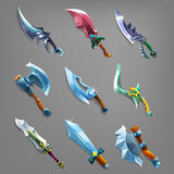 Set of cartoon weapons. Stock Photos