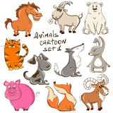 Set Of Cartoon Wild And Domestic Animals. Stock Photography
