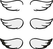 Set of cartoon wings Royalty Free Stock Photography