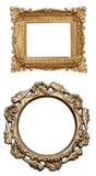 Set a carved frame isolated Stock Photos