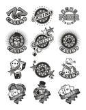 Set casino badge Royalty Free Stock Photography