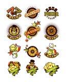 Set casino badge Royalty Free Stock Photo