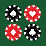 Set of casino chips Stock Photo