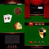 Set of casino design elements Royalty Free Stock Photography