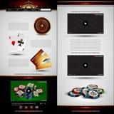 Set of casino design elements Stock Photography