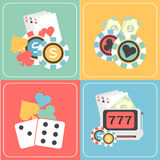Set of Casino elements. Stock Image