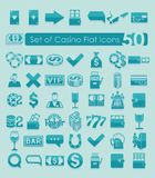 Set of casino icons Royalty Free Stock Photo