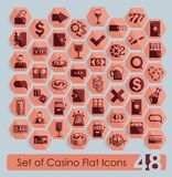 Set of casino icons Royalty Free Stock Image