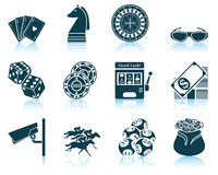 Set of casino icons. EPS 10  illustration without transparency Royalty Free Stock Photos