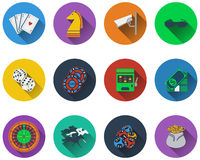 Set of casino icons Stock Photography