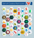 Set of casino icons Stock Image