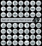 Set of casino icons Royalty Free Stock Images