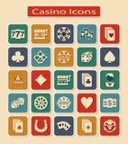 Set of Casino Icons Stock Photos