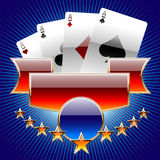 Set of casino's items. Vector illustration of gambling casinos characters Royalty Free Stock Images