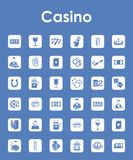 Set of casino simple icons Royalty Free Stock Image