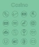 Set of casino simple icons Stock Images