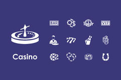 Set of casino simple icons Royalty Free Stock Photos
