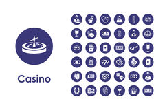 Set of casino simple icons Stock Photo