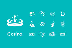 Set of casino simple icons Royalty Free Stock Photo