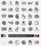 Set of casino stickers Stock Images