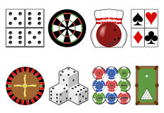 Set casino tools. Stock Image