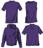 Set of the casual wear. Vector Royalty Free Stock Images