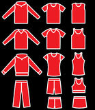 Set of the casual wear. Vector Royalty Free Stock Photography