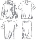 Set of the casual wear. Vector Royalty Free Stock Photo
