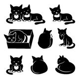 Set of cat icons. Vector set of cat icons on a white background Royalty Free Stock Image
