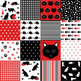 Set of cat pattern Stock Photo
