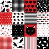 Set of cat pattern. Set of cat design elements Stock Photo