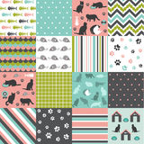 Set of cat pattern Royalty Free Stock Image
