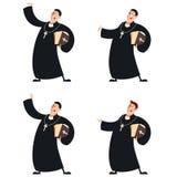 Set of Catholic priests Stock Photography