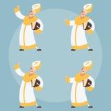 Set of Catolic Popes Royalty Free Stock Photos