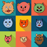 Set of cats icons Royalty Free Stock Photography